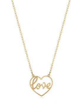 سلسال كلمة حب، من الذهب الأصفر عيار 18 قيراط