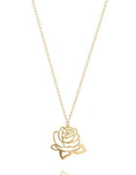 سلسال الوردة الذهبية من الذهب الأصفر عيار 18 قيراط