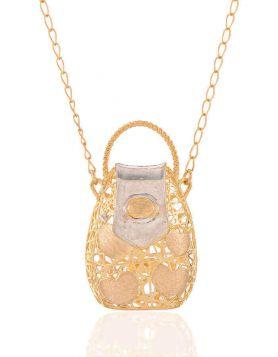 سلسال حقيبتي الذهبية، من الذهب الأصفر عيار 18 قيراط