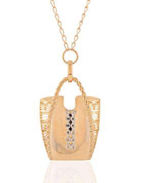 سلسال حقيبتي الأنيقة، من الذهب الأصفر عيار 18 قيراط
