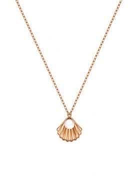 سلسال صدفة البحر الكلاسيكي، من الذهب الوردي عيار 18 قيراط