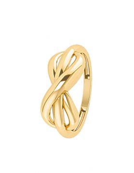 خاتم رابط الحب الدائم، من الذهب الأصفر عيار 18 قيراط