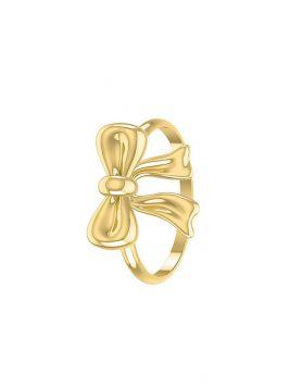خاتم هدية الحب الصغير، من الذهب الأصفر عيار 18 قيراط