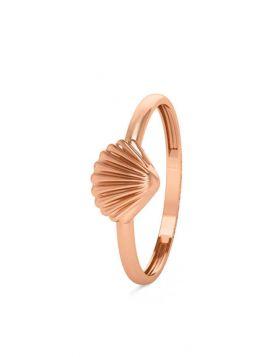خاتم صدفة البحر الكلاسيكي، من الذهب الوردي عيار 18 قيراط