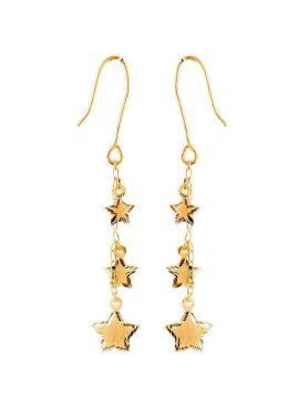 حلق النجوم، من الذهب الأصفر عيار 18 قيراط