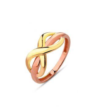 خاتم رابط الحب الدائم، من الذهب الأصفر والوردي عيار 18 قيراط