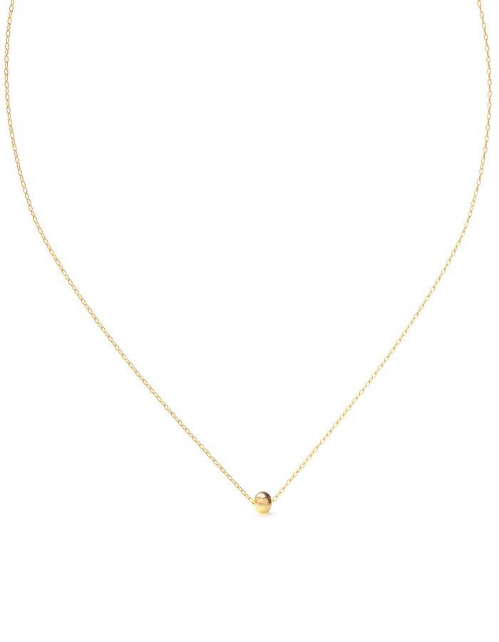 سلسال متصل بالكرة من الذهب الأصفر عيار 18 قيراط