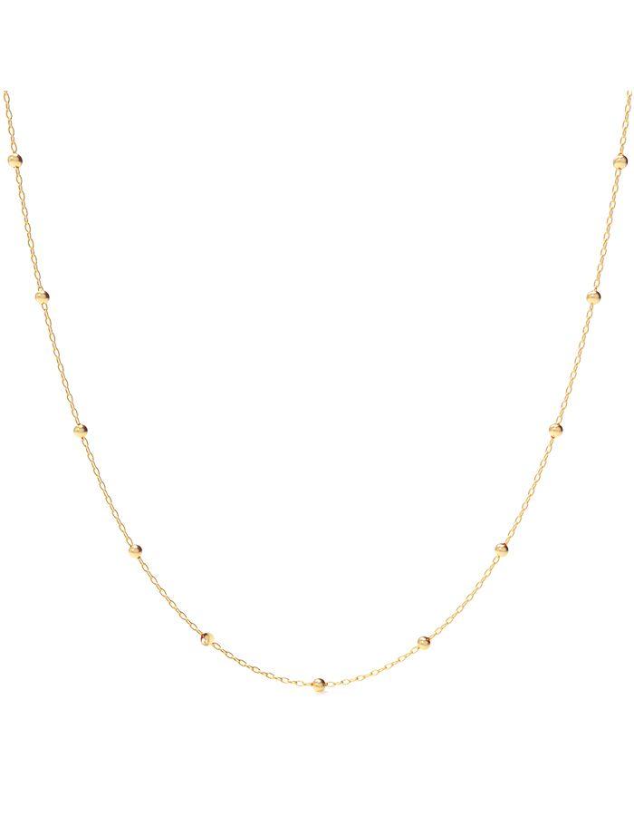 سلسال طويل مستدير م من الذهب الأصفر عيار 18 قيراط