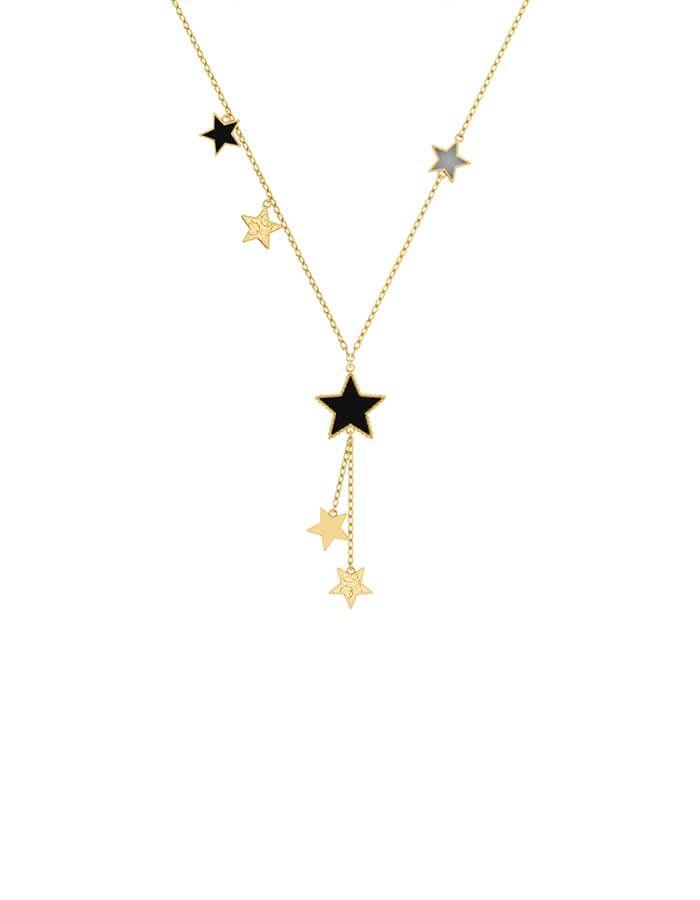 سلسال النجوم الصغيرة، من الذهب الأصفر عيار 18 قيراط