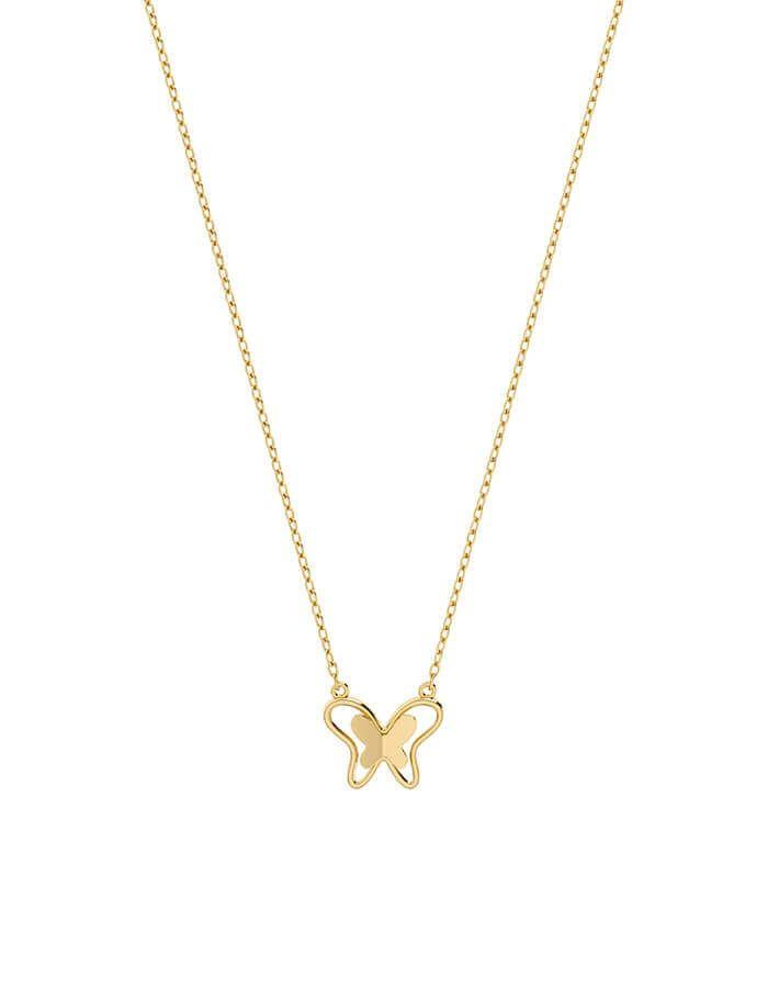 سلسال الفراشة المذهلة، من الذهب الأصفر عيار 18 قيراط