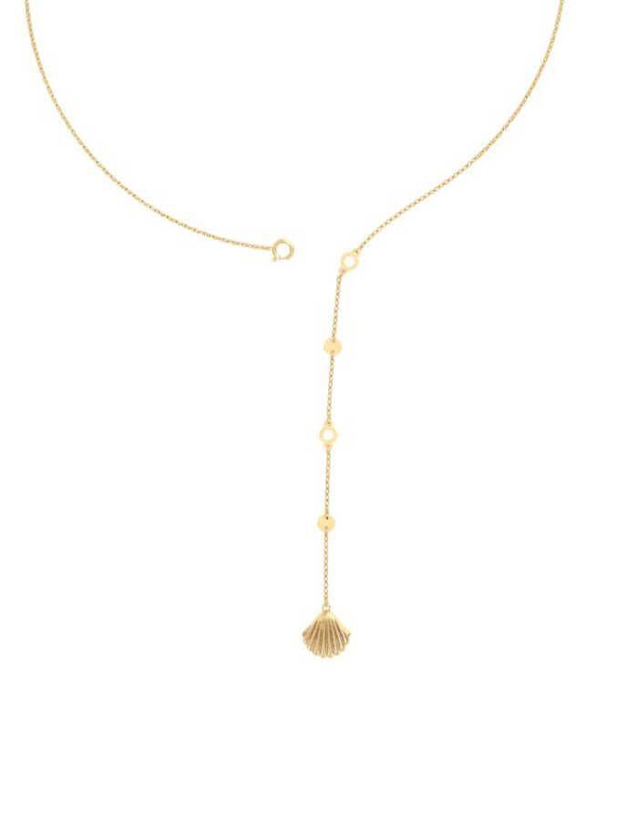 سلسال صدفة البحر الكلاسيكي، من الذهب الأصفر عيار 18 قيراط