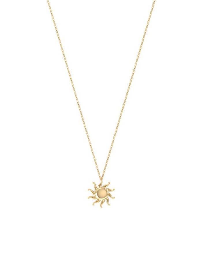 سلسال الشمس السعيدة، من الذهب الأصفر عيار 18 قيراط