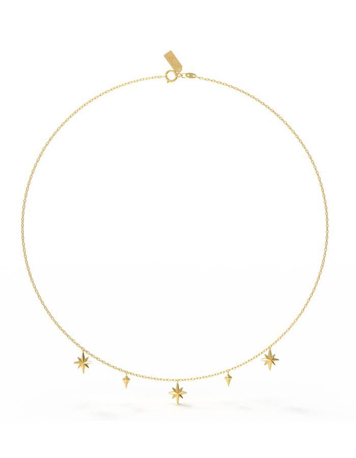 سلسال النجمات البراقة، من الذهب الأصفر عيار 18 قيراط