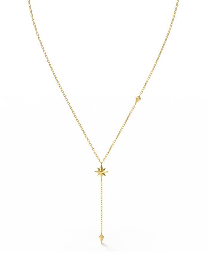 سلسال النجمة البراقة، من الذهب الأصفر عيار 18 قيراط
