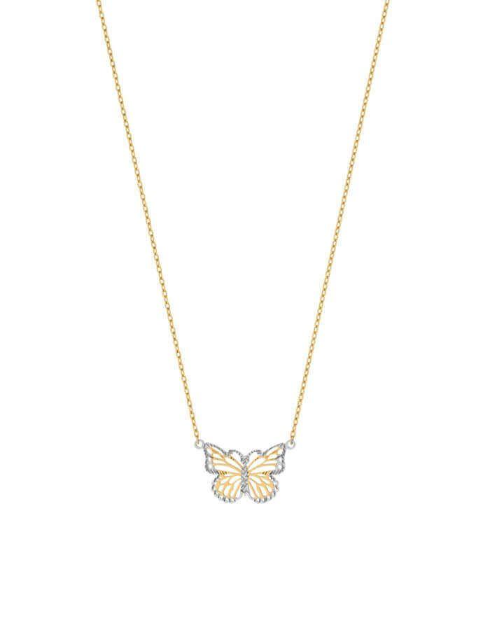 سلسال الفراشة، رمز الحرية والجمال، من الذهب الأصفر عيار 18 قيراط