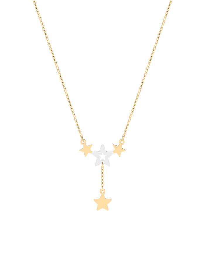 سلسال النجمات، لتحقق الأمنيات، من الذهب الأصفر عيار 18 قيراط
