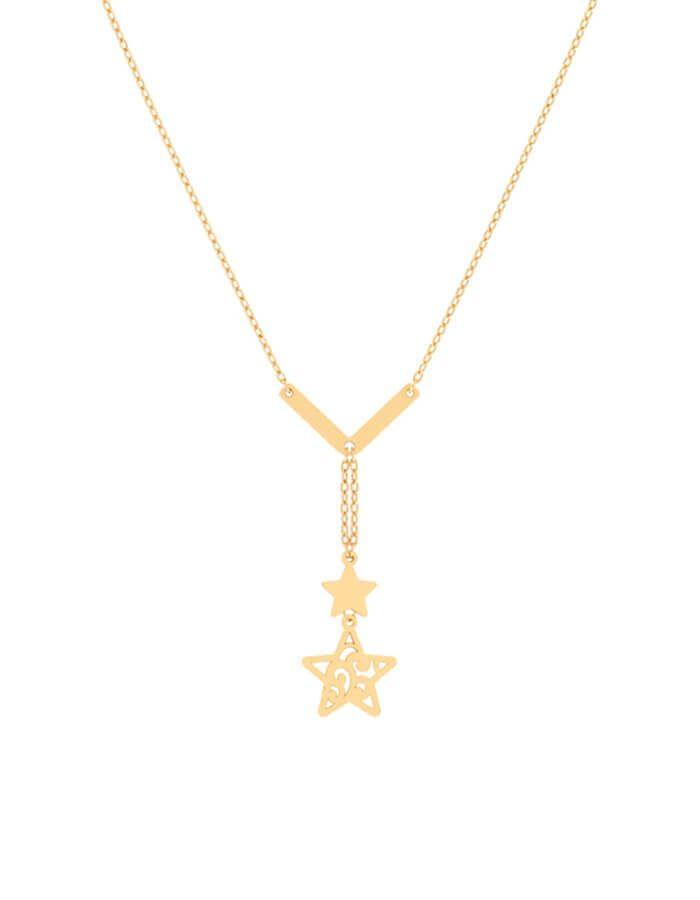 سلسال النجمات البراقه، من الذهب الأصفر عيار 18 قيراط
