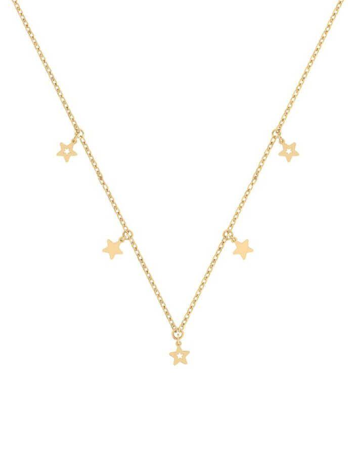 سلسال نجوم السماء المتلألئة، من الذهب الأصفر عيار 18 قيراط