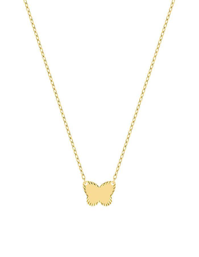 سلسال الفراشة الرقيقة، من الذهب الأصفر عيار 18 قيراط