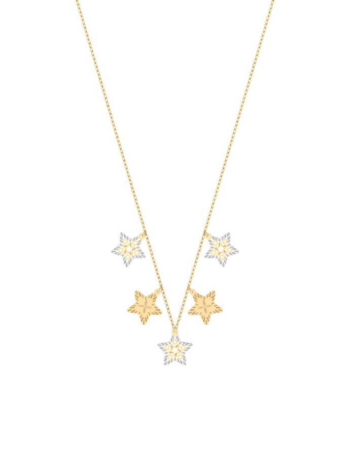 سلسال النجمات الخمس، من الذهب الأصفر والأبيض عيار 18 قيراط