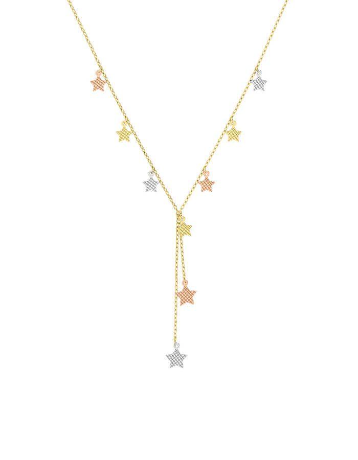 سلسال النجمات المتدلية، من الذهب الأصفر عيار 18 قيراط