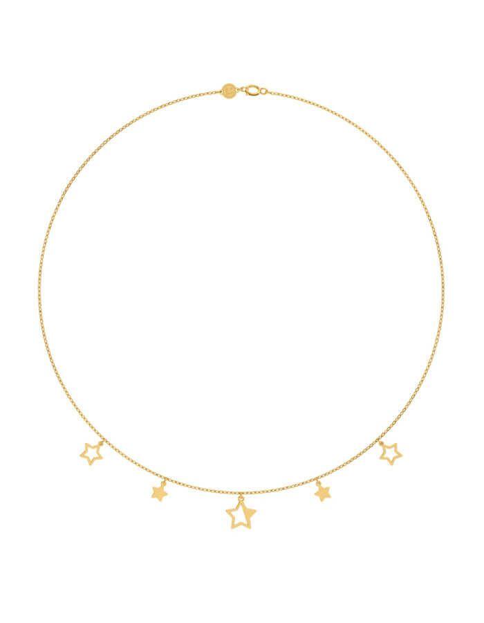 سلسال النجوم، من الذهب الأصفر عيار 18 قيراط