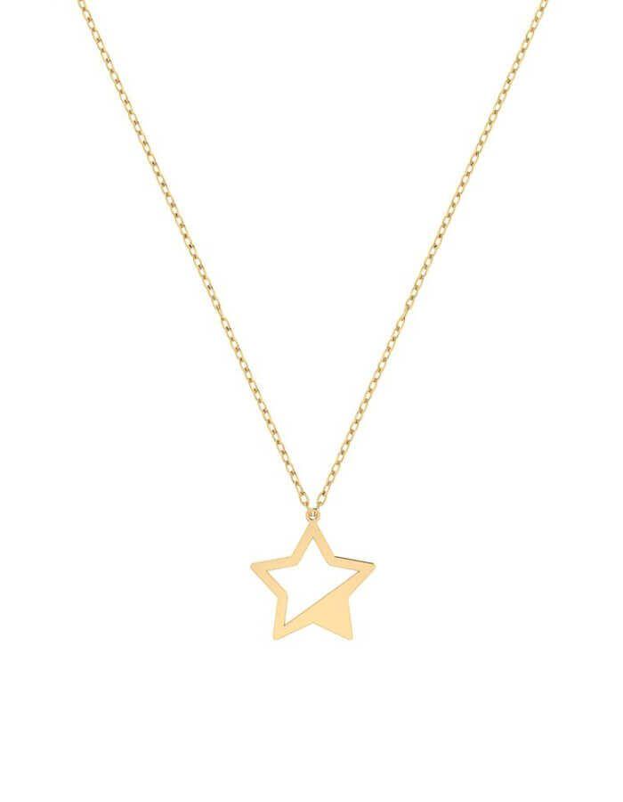 سلسال بريق النجوم، من الذهب الأصفر عيار 18 قيراط
