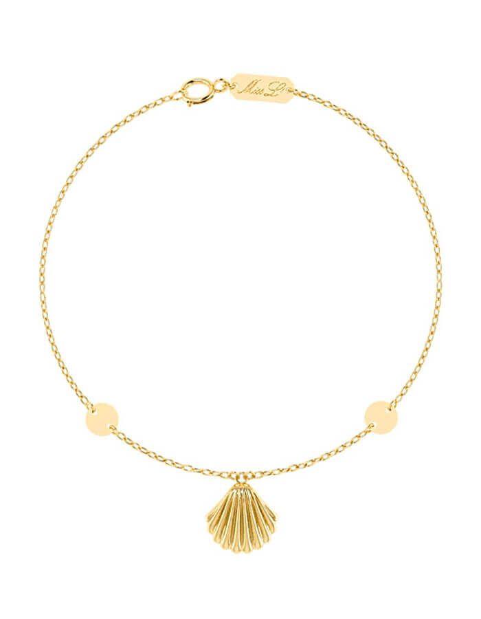 أسوره صدفة البحر الكلاسيكي، من الذهب الأصفر عيار 18 قيراط