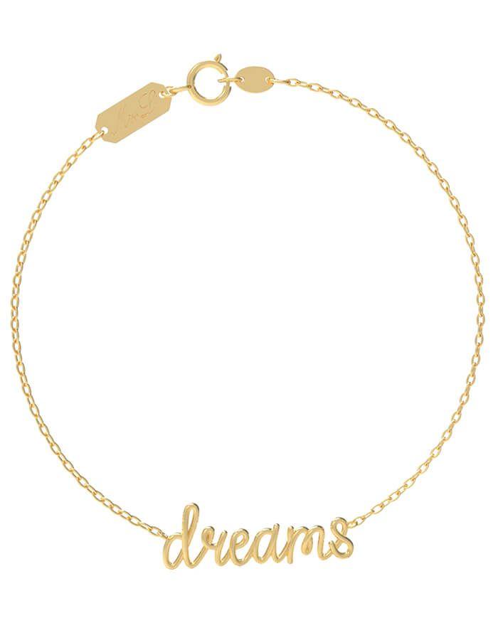 سوار كلمة أحلام، من الذهب الأصفر عيار 18 قيراط