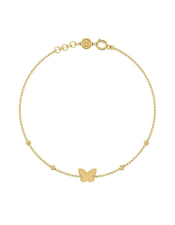 سوار الفراشة، من الذهب الأصفر عيار 18 قيراط