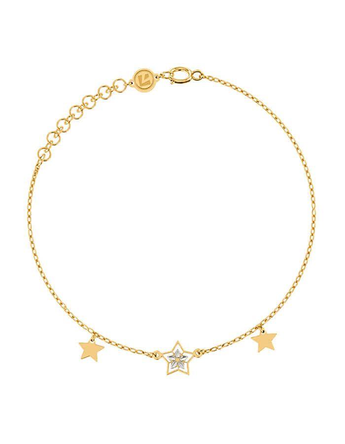 سوار النجمات الثلاث، من الذهب الأصفر عيار 18 قيراط