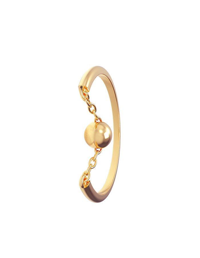 خاتم سلسلة الكرة من الذهب الأصفر عيار 18 قيراط