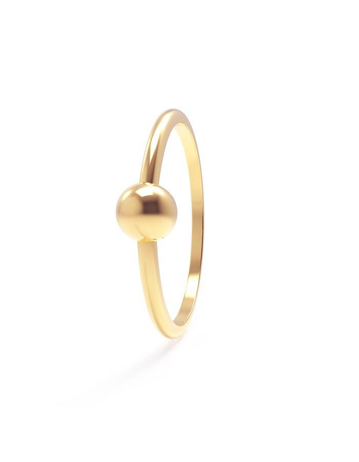 خاتم الكرة من الذهب الأصفر عيار 18 قيراط