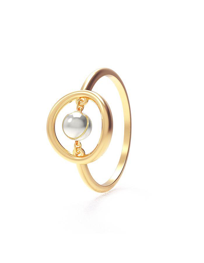 خاتم الدوائر الذهبية من الذهب الأصفر عيار 18 قيراط