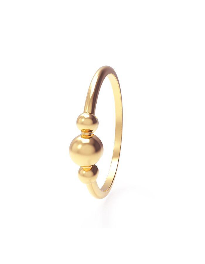 خاتم الكرات الذهبية من الذهب الأصفر عيار 18 قيراط