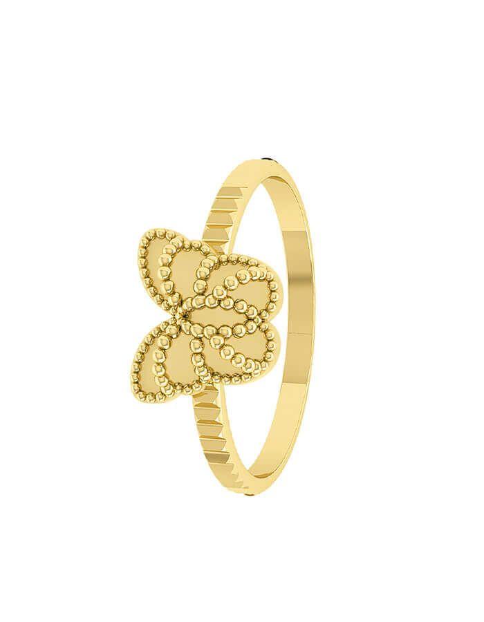 خاتم الفراشة الذهبية، من الذهب الأصفر عيار 18 قيراط