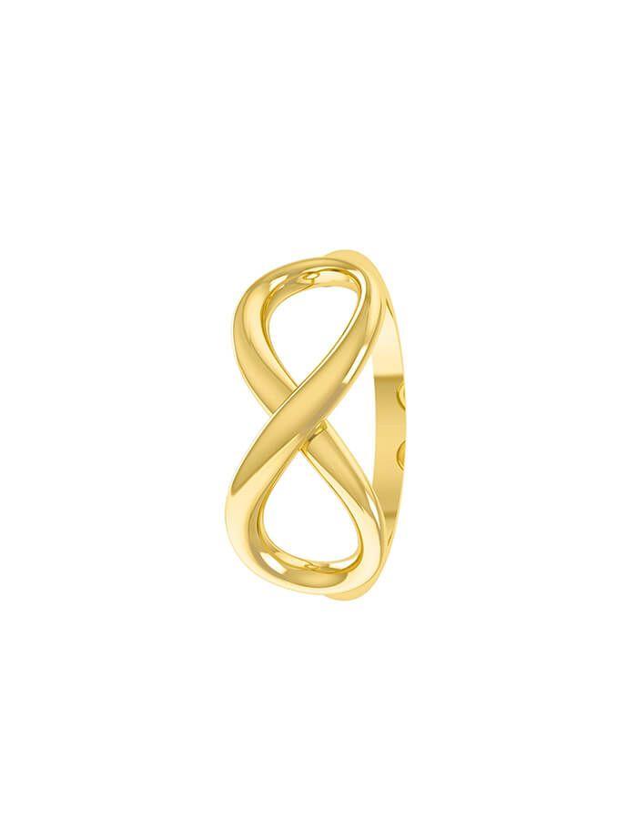 خاتم إلى ما لا نهاية، من الذهب الأصفر عيار 18 قيراط
