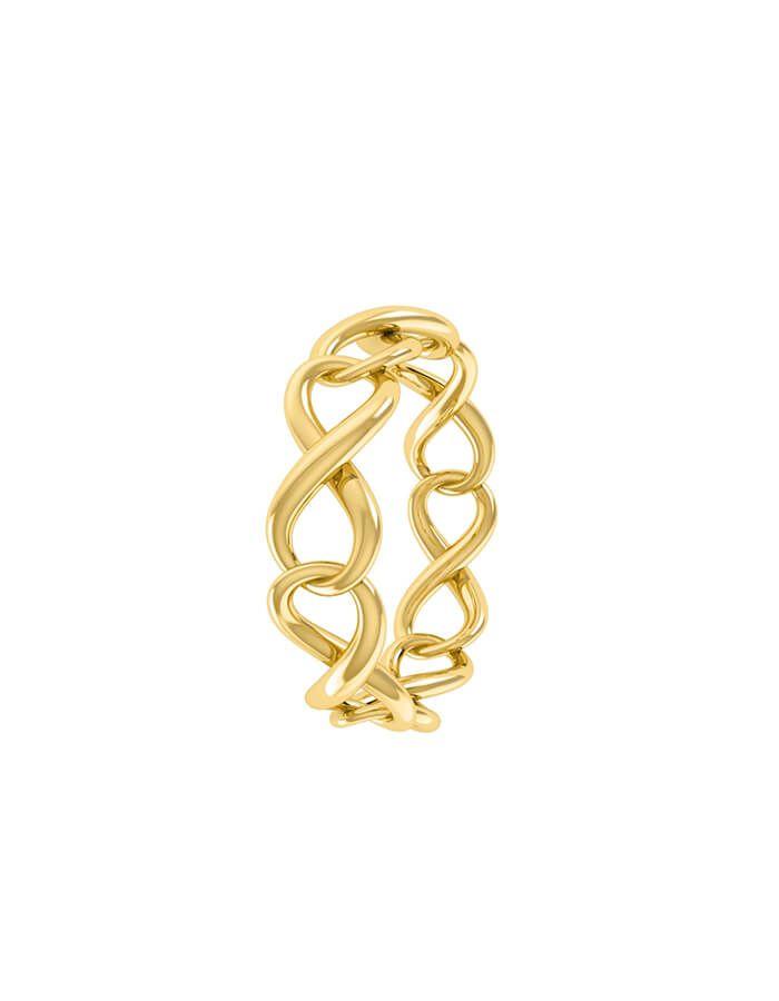 خاتم حب إلى الأبد، من الذهب الأصفر عيار 18 قيراط