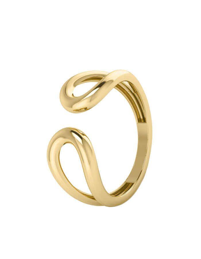 الخاتم بالتصميم المفتوح، من الذهب الأبيض عيار 18 قيراط
