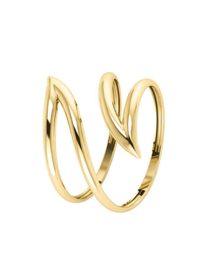 خاتم السهم المفتوح، من الذهب الأصفر عيار 18 قيراط