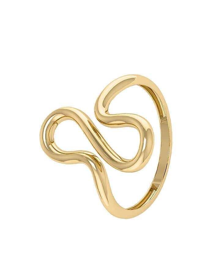 خاتم الرسم المبتكر، من الذهب الأصفر عيار 18 قيراط