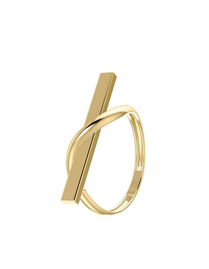 خاتم الهندسة الأنيق، من الذهب الأصفر  عيار 18 قيراط
