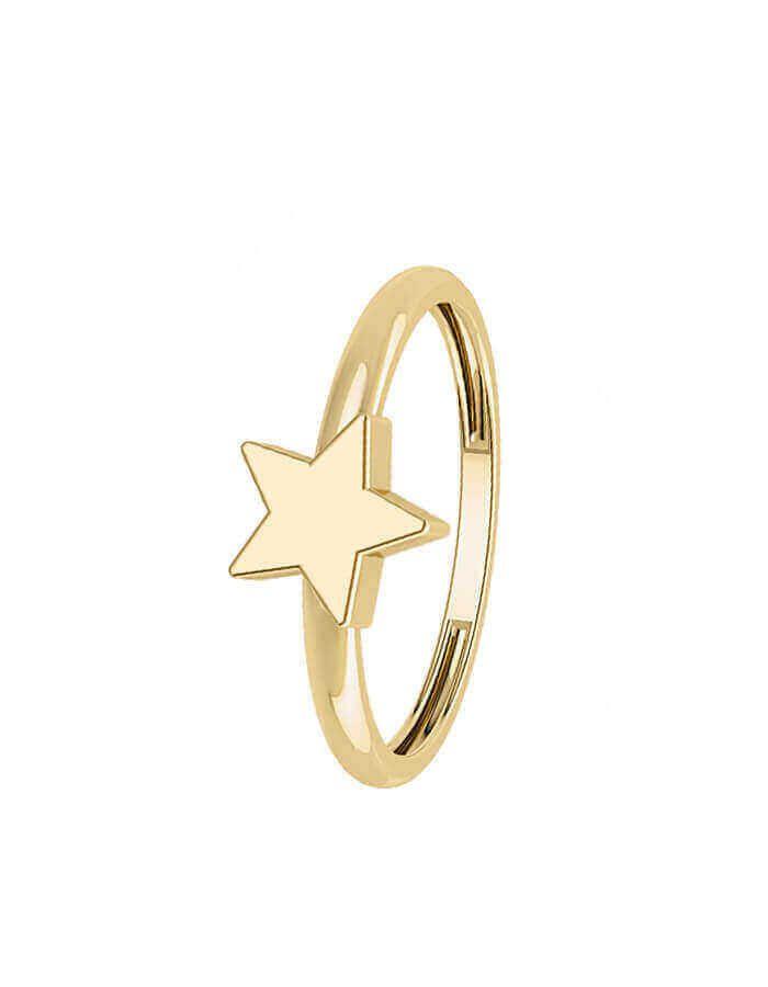 خاتم النجمة الساطعة من الذهب الأصفر عيار 18 قيراط