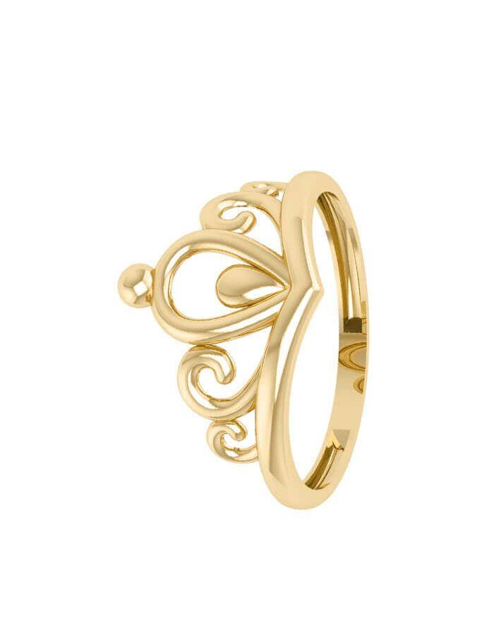 خاتم تاج الحب، من الذهب الأصفر عيار 18 قيراط