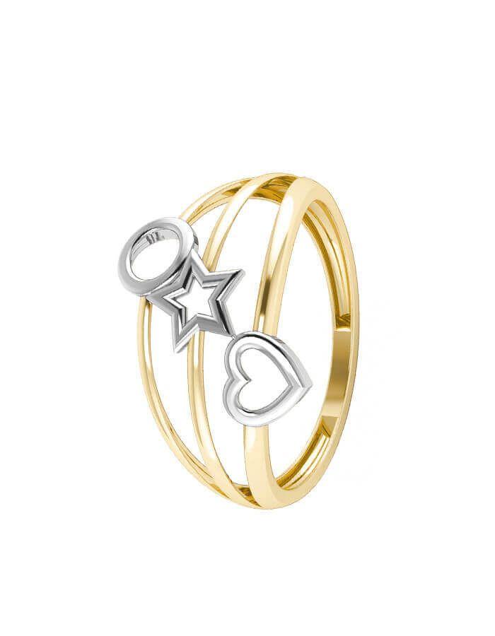 خاتم لعبة الحب، من الذهب الأصفر عيار 18 قيراط