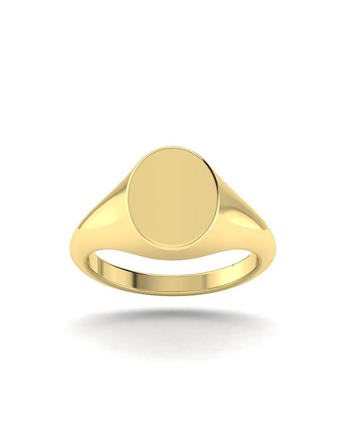 انا كما أريد خاتم التوقيع بالقصة الدائرية، من الذهب عيار 18 قيراط