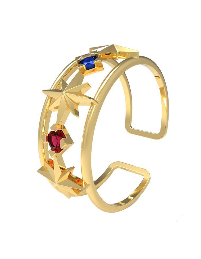 سوار إشراقة الذهب، من الذهب الأصفر عيار 18 قيراط وحجر صفير