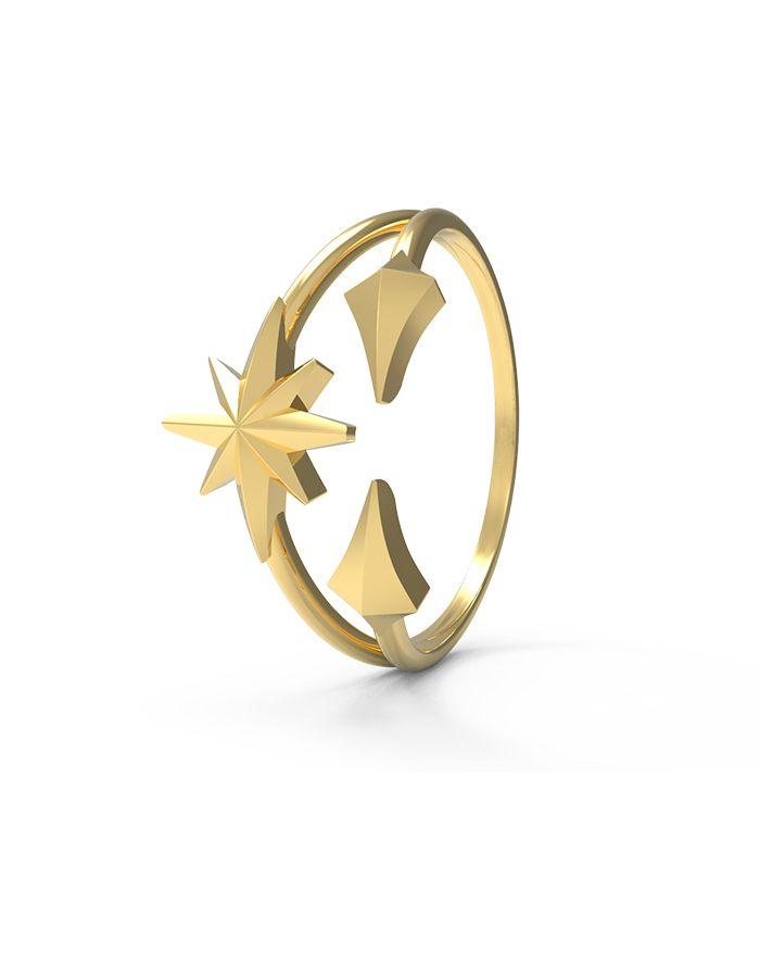 خاتم النجمة البراقة، من الذهب الأصفر عيار 18 قيراطx