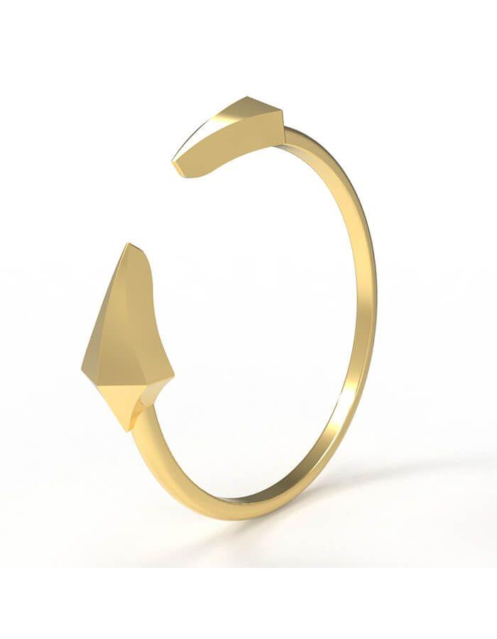 خاتم إشراقة الذهب، من الذهب الأصفر عيار 18 قيراط