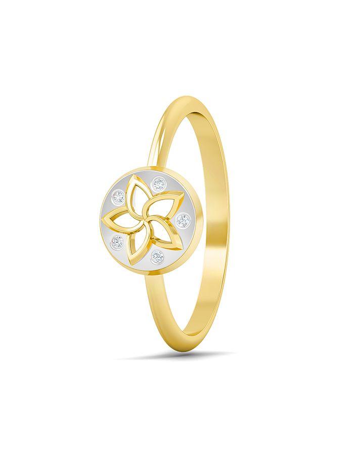 خاتم ساحر من الذهب الأصفر والوردي عيار 18 قيراط